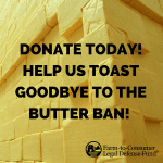 TOAST GOODBYE TO THE BUTTER BAN- 2018 Fundraiser