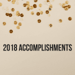 Accomplishments and confetti