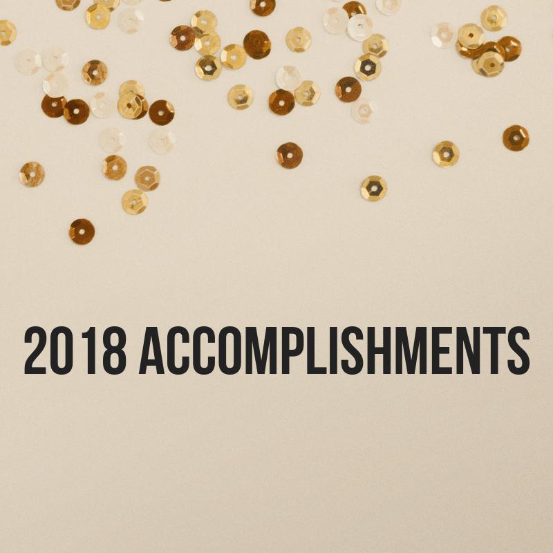 Accomplishments and confetti