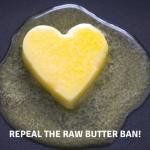 Raw Butter Heart