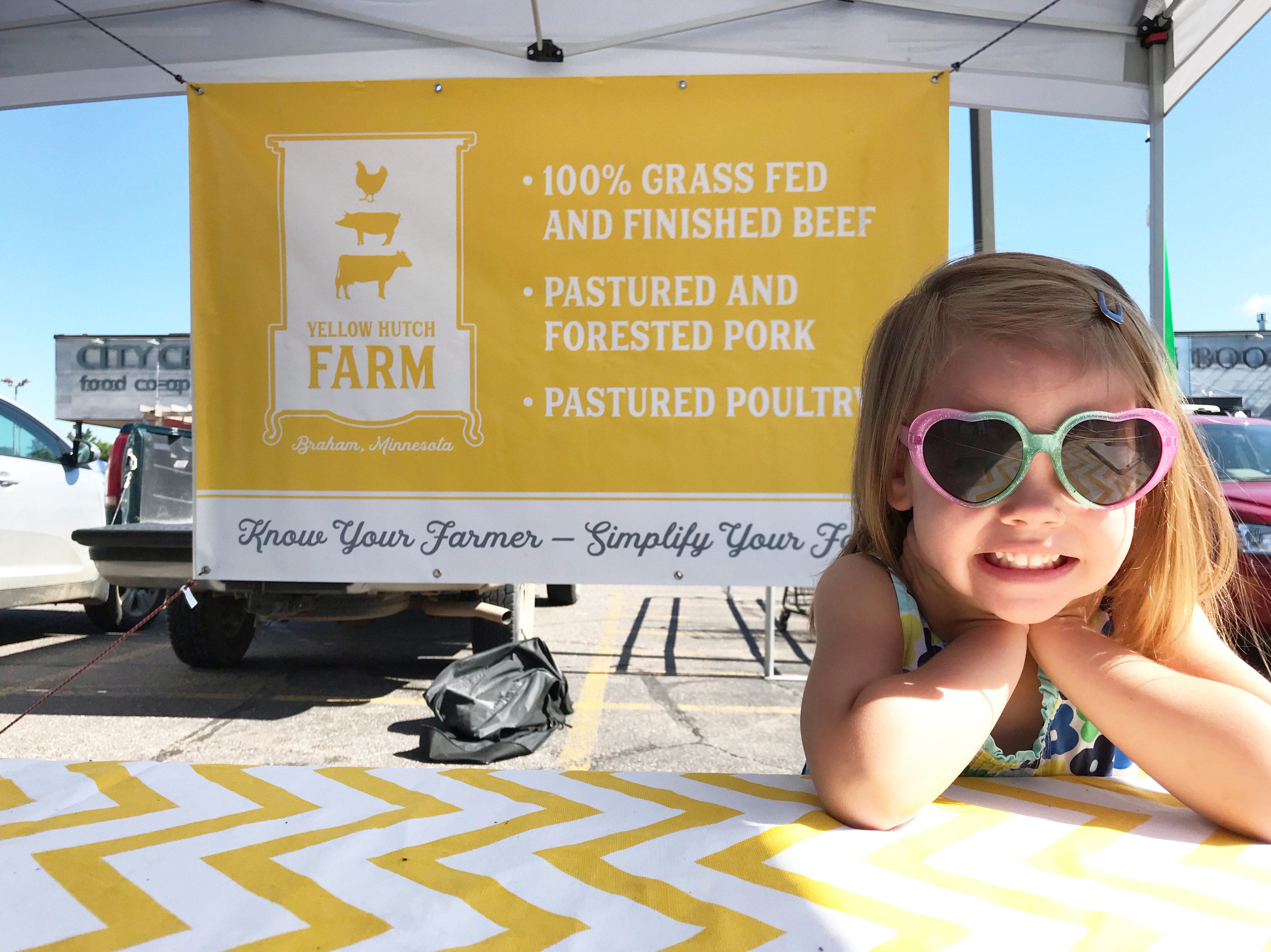 Yellow Hutch Farm Young Daughter At Market