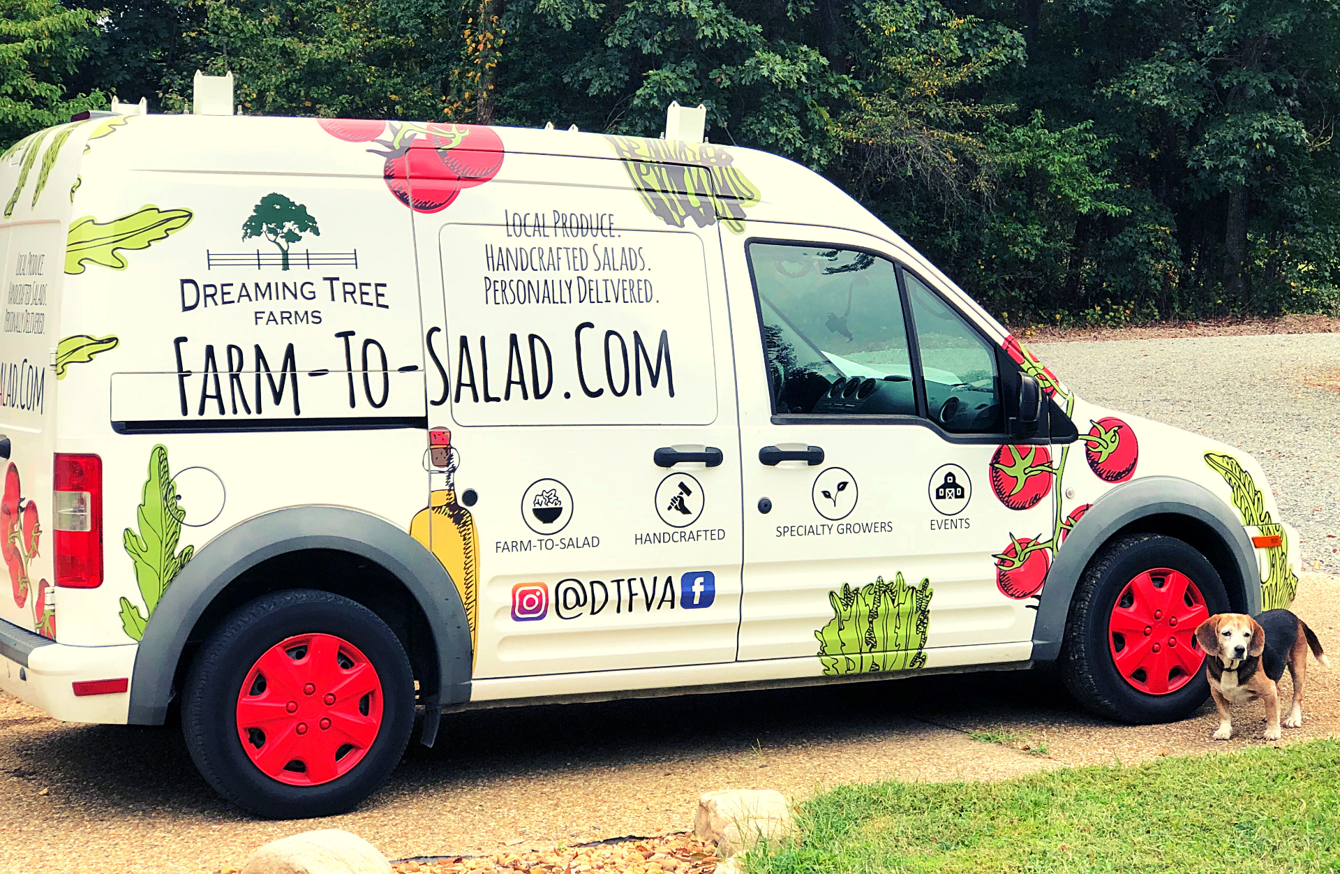 Farm-To-Salad Delivery Van