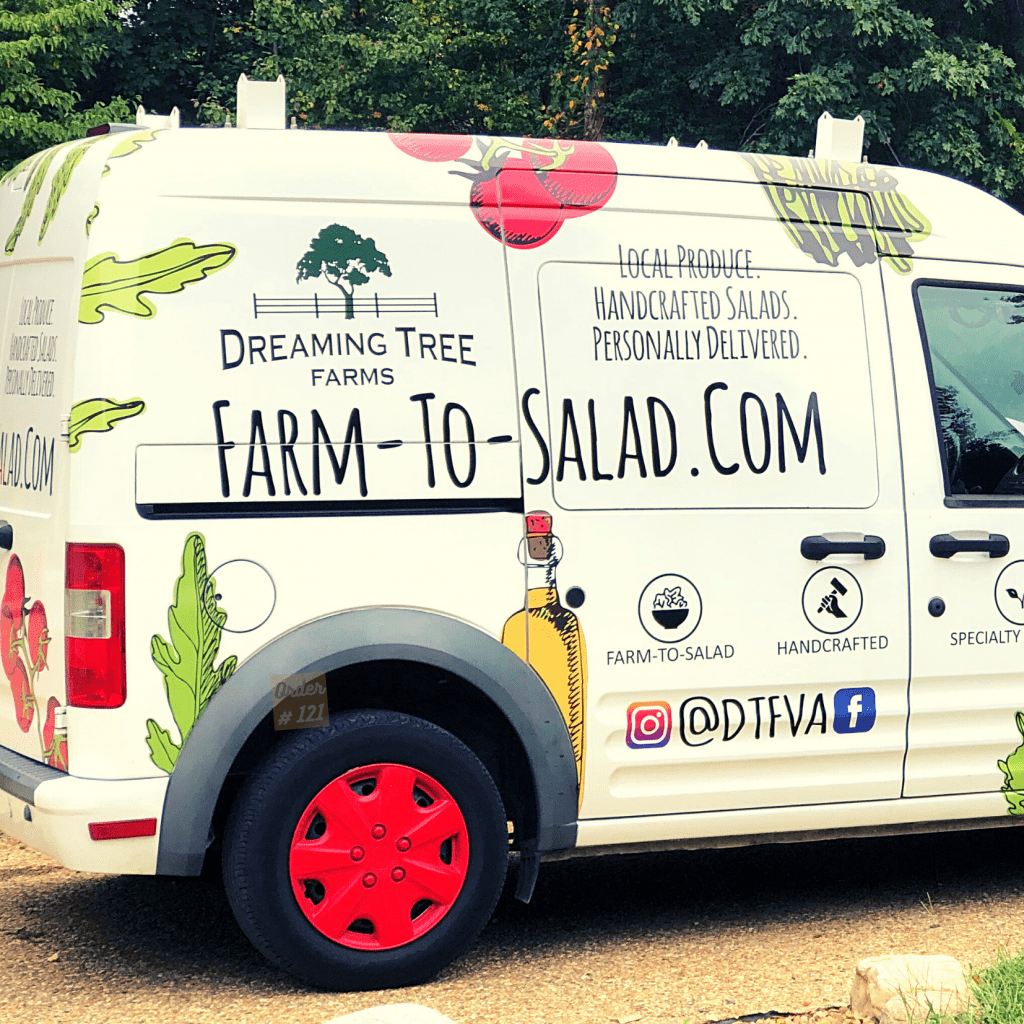Farm-To-Salad Deliver Van