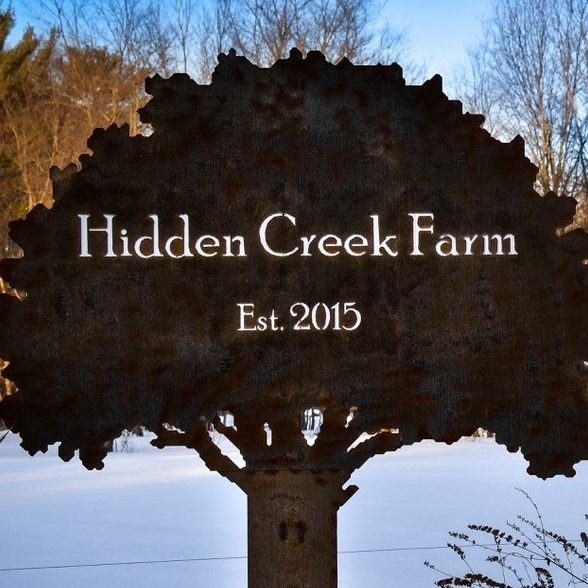 Hidden Creek Farm Sign