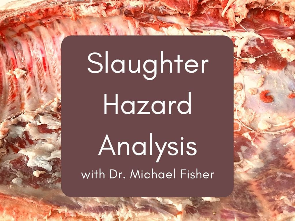 Slaughter Hazard Analysis