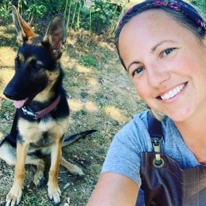 Kendra and Dog