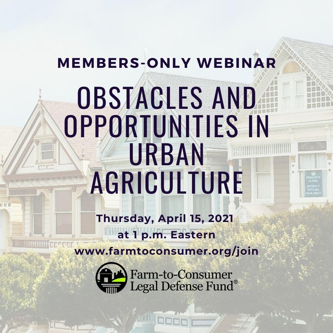 Urban Agriculture Webinar