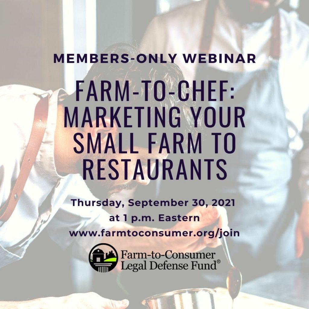 Member Webinar: Farm-to-Chef